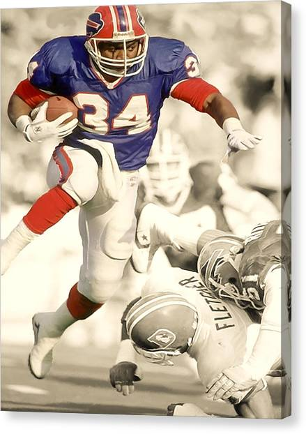 Oklahoma State University Canvas Print - Thurman Thomas by Brian Reaves