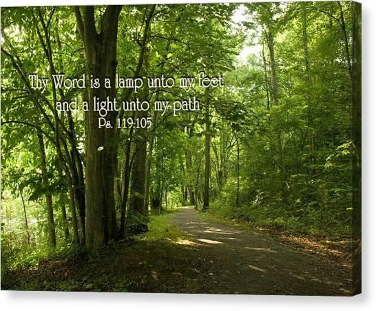 Thy Word Is A Lamp Unto My Feet Canvas Print