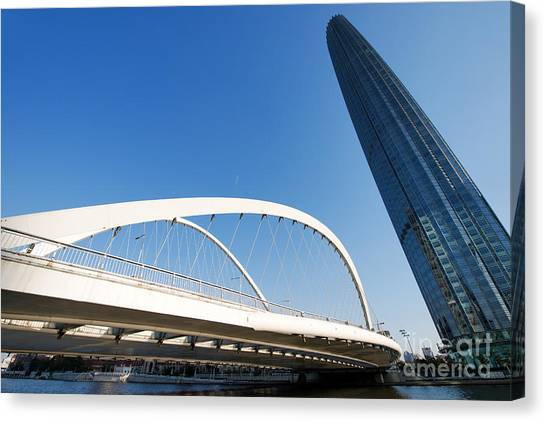 Canvas Print featuring the photograph Tianjin City by Yew Kwang