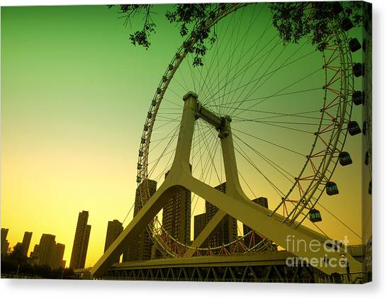 Tianjin Eye  Canvas Print