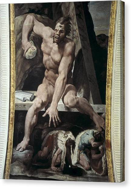 Cyclops Canvas Print - Tibaldi, Pellegrino 1527-1596. Escaping by Everett
