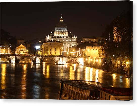 Tiber Night Canvas Print