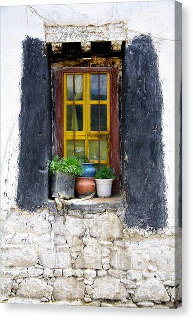 Tibet Window Canvas Print