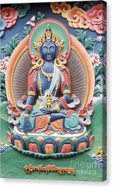 Tibetan Buddhist Temple Deity Canvas Print by Tim Gainey