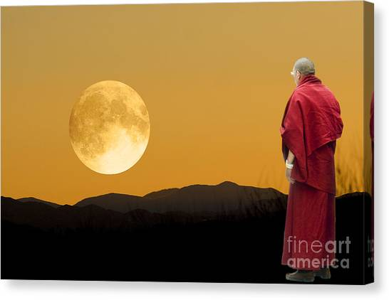 Tibetan Monk Canvas Print