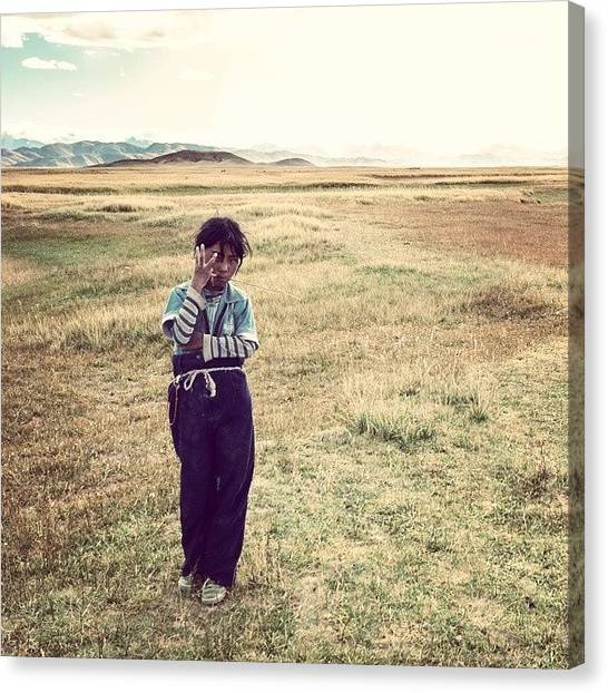 Kids Canvas Print - Tibetan Nomad Kid. by Hitendra SINKAR