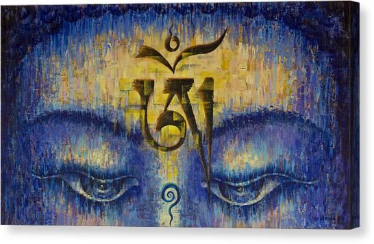 Tibetan Om Painting By Vrindavan Das