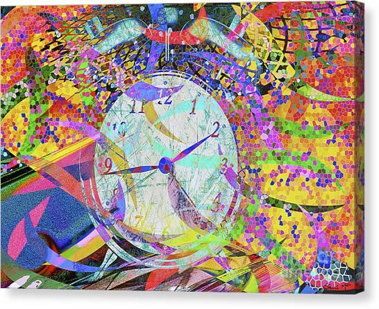 Canvas Print featuring the digital art Tic Tac by Eleni Mac Synodinos