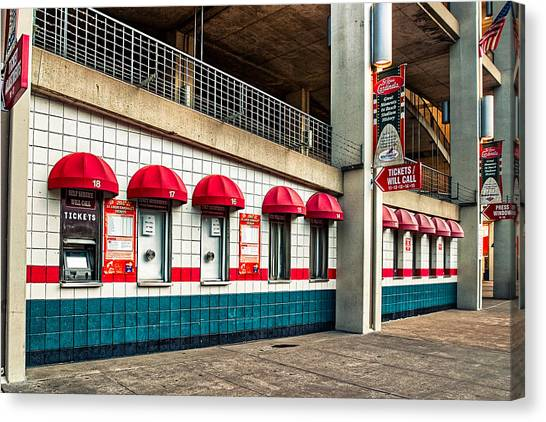 Ticket Windows Canvas Print