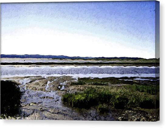 Tidal Flats Canvas Print by Christopher Bage