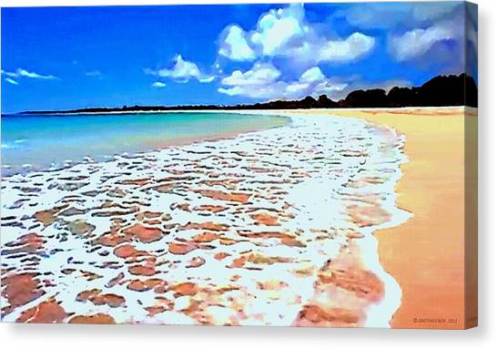 Tidal Lace Canvas Print