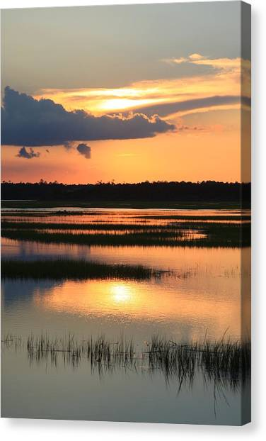 Tidal Marsh- Wilmington Nc Canvas Print