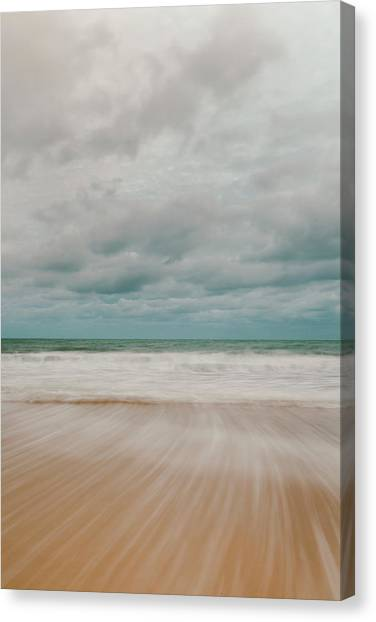 St Ives Canvas Print - Tidal Motion On Carbis Bay Beach, St by Mark Doherty / Robertharding