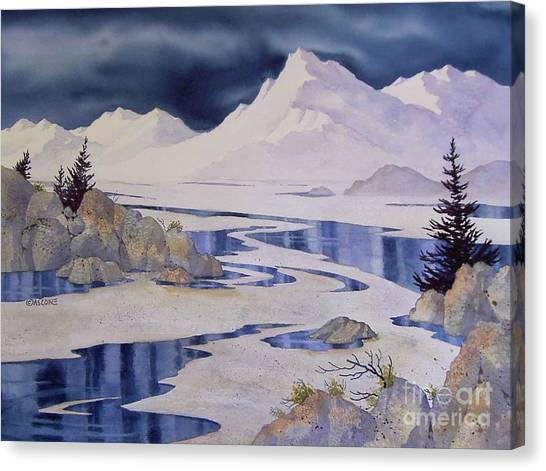 Tidal Patterns Iv Canvas Print