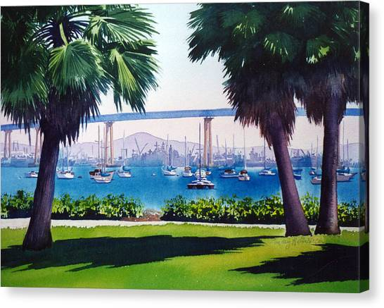 Tides Canvas Print - Tide Lands Park Coronado by Mary Helmreich
