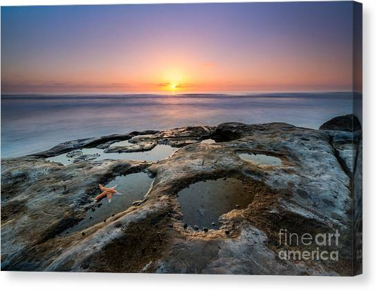 Tide Pool Sunset Canvas Print