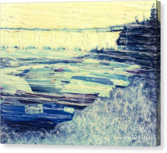 Tideland Boats Canvas Print