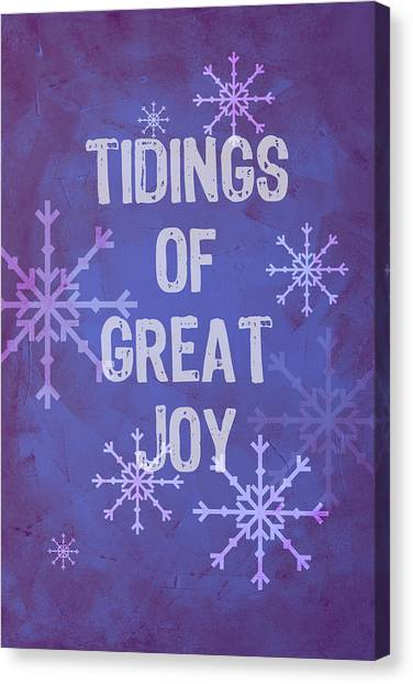 Canvas Print featuring the painting Tidings Of Great Joy by Jocelyn Friis