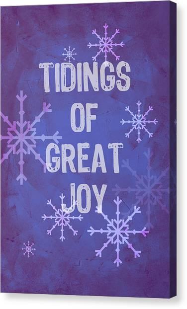 Tidings Of Great Joy Canvas Print