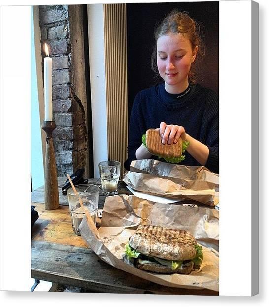 Irises Canvas Print - Tidlig Brunch Med @stineholmi Efter by Iris Gronbak