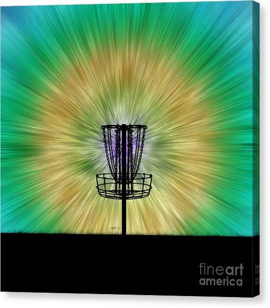 Tie Dye Disc Golf Basket Canvas Print