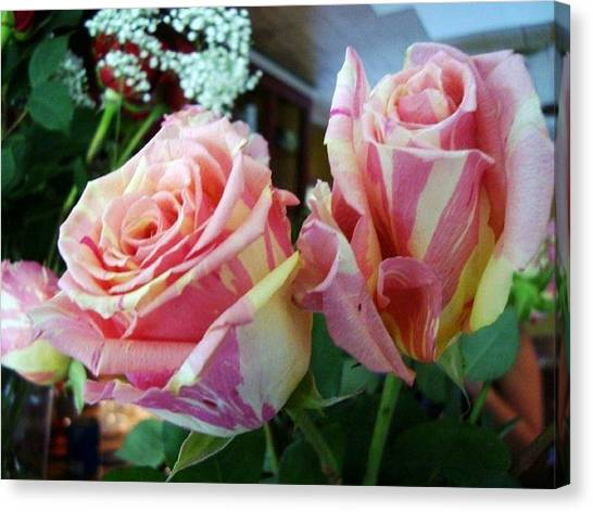 Tie Dye Roses Canvas Print