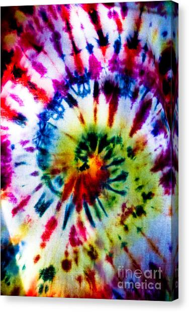 Tie Dyed T-shirt Canvas Print