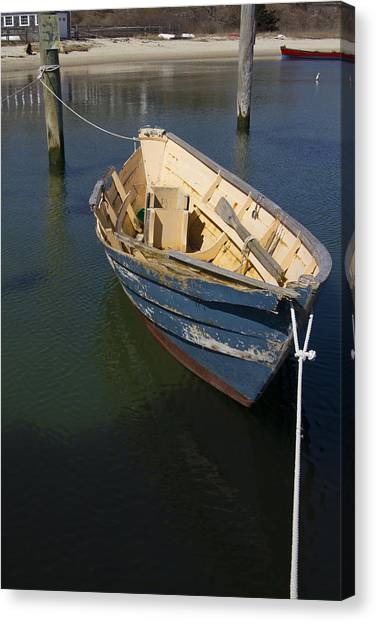 Tied Down From The Storm  Canvas Print by Eugene Bergeron