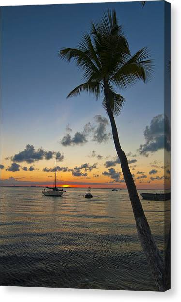 Tied Up At Sunset Canvas Print