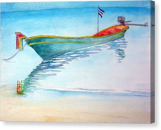 tied up on Bali beach Canvas Print by Jack Adams