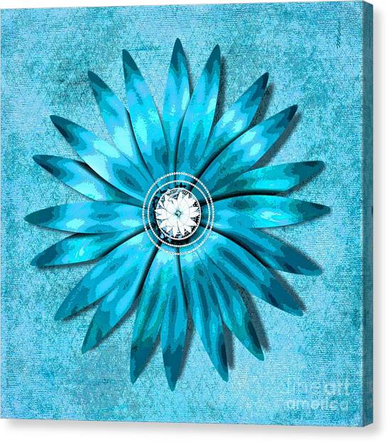 Tiffany Blue And Diamonds Too Canvas Print