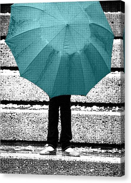 Tiffany Blue Umbrella Canvas Print