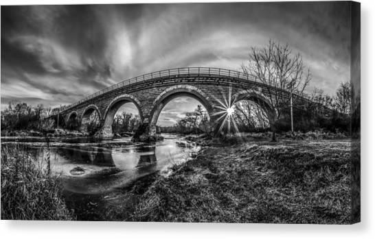 Tiffany Bridge Monochrome Canvas Print