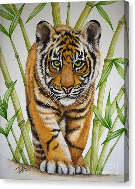 Tiger Cub Canvas Print