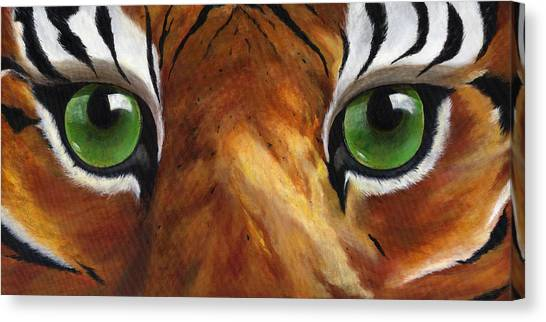 University Of Memphis Canvas Print - Tiger Eyes by Donna Tucker