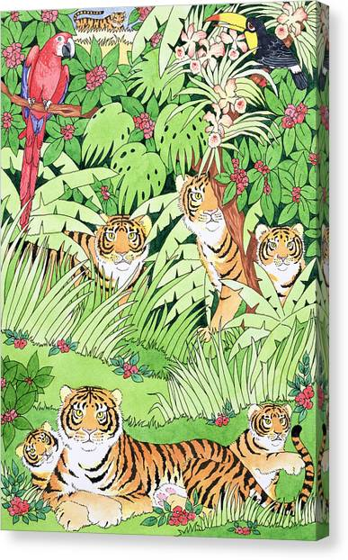 Toucans Canvas Print - Tiger Jungle by Suzanne Bailey