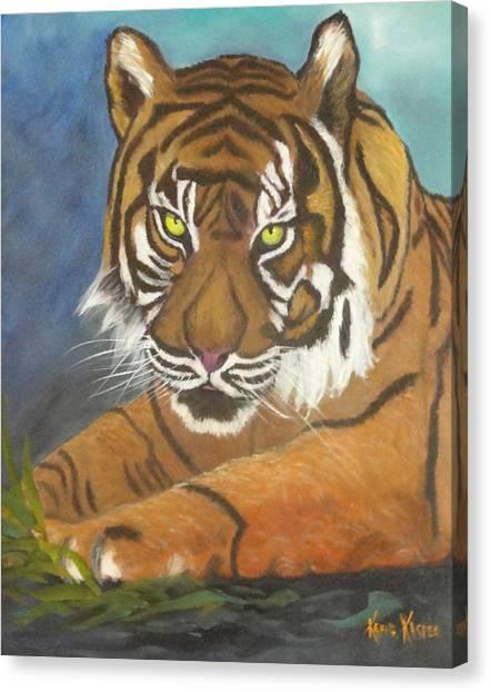 Tiger One Canvas Print by  Kathie Kasper
