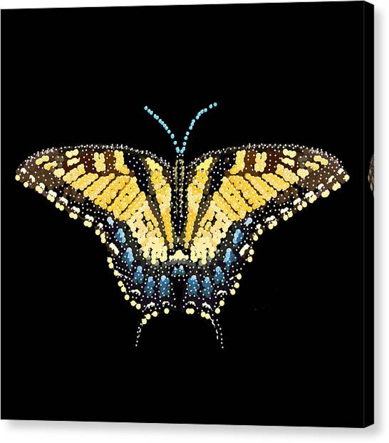 Tiger Swallowtail Butterfly Bedazzled Canvas Print