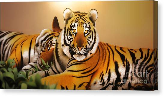 Tiger Tales Canvas Print by Shannon Rogers