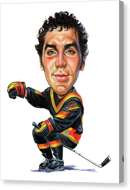 Vancouver Canucks Canvas Print - Tiger Williams by Art