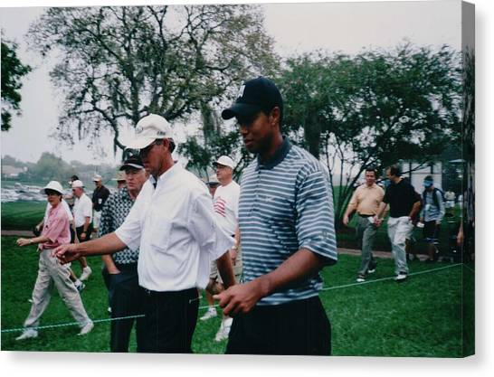 Golfers Canvas Print - Tiger Woods 2003 Bay Hill Invitational by Lisa Travis