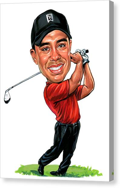 Tiger Woods Canvas Print - Tiger Woods by Art