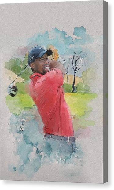 Tiger Woods Canvas Print - Tiger Woods by Catf