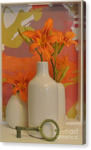 Tigerlily Still Life Canvas Print by Marsha Heiken