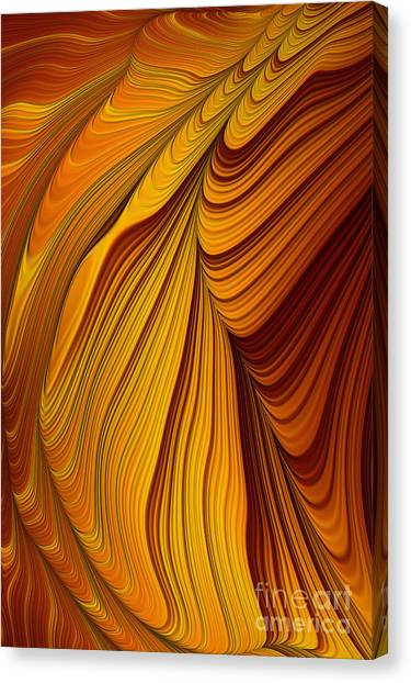 Gemstones Canvas Print - Tiger's Eye Abstract by John Edwards
