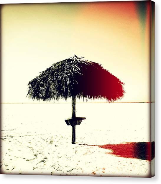 Southwest Florida Sunset Canvas Print - Tiki Alone Sunset by Chris Andruskiewicz