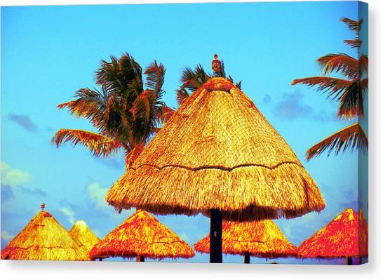 Tiki Huts Canvas Print