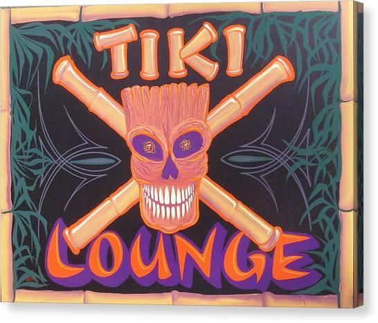 Tiki Lounge Canvas Print