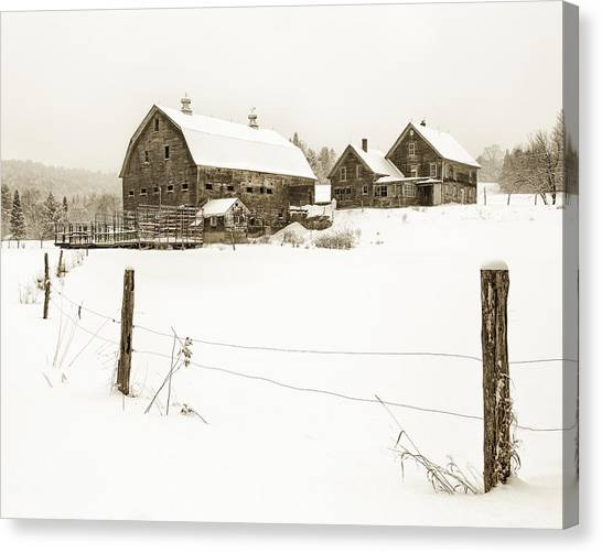 Till Dawn Farm Canvas Print