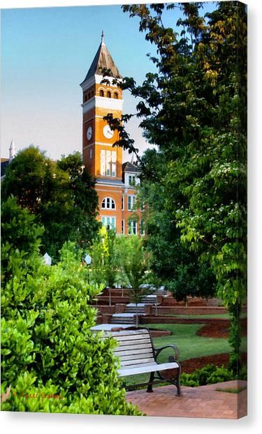 Clemson University Canvas Print - Tillman Hall Early Morning by Lynne Jenkins